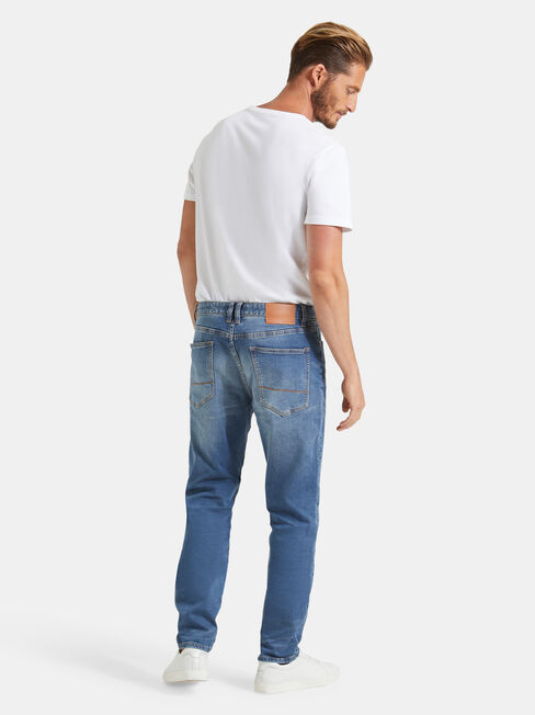 Raleigh Slim Tapered Knit jeans, Light Indigo, hi-res