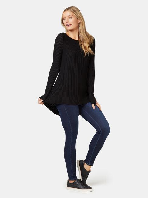 London Ottoman Pullover, Black, hi-res