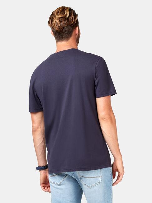Gunner Short Sleeve Print Crew Tee, Blue, hi-res
