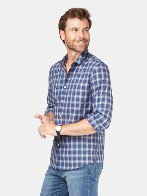 Turner Check Shirt, Blue, hi-res