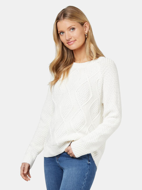 Juliette Pullover, White, hi-res