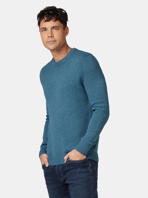 Reggie Crew Knit, Green, hi-res