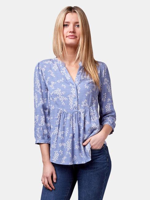 Maxine Textured Shirt, Blue, hi-res