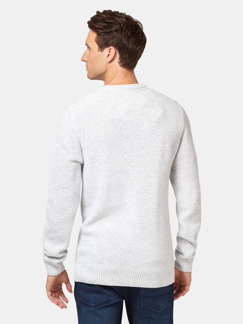 Smith Textured Crew Neck Knit, Grey, hi-res