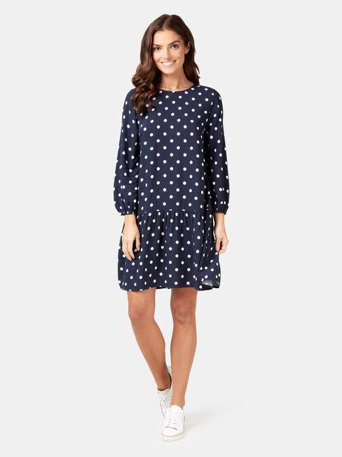 Emilia Tiered Dress, Print, hi-res