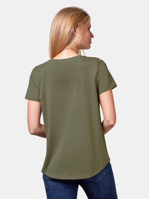 Essential Crew Neck Tee, Thyme, hi-res
