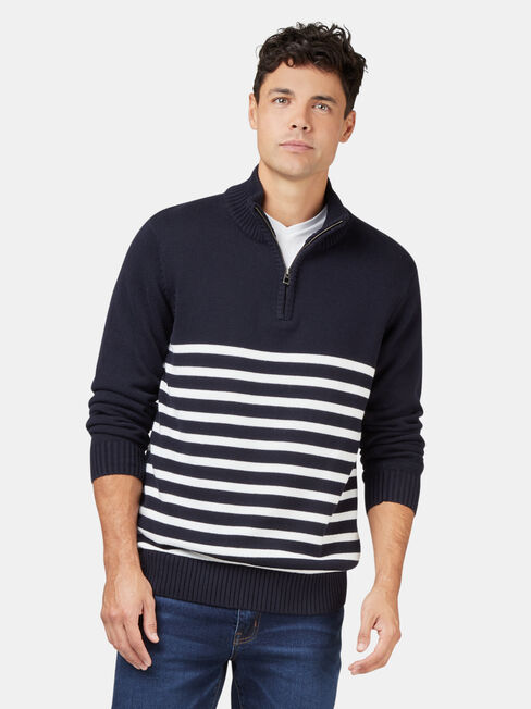 Max Funnel Neck Stripe Knit