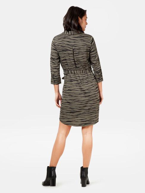 Minx Printed Shirt Dress, Print, hi-res