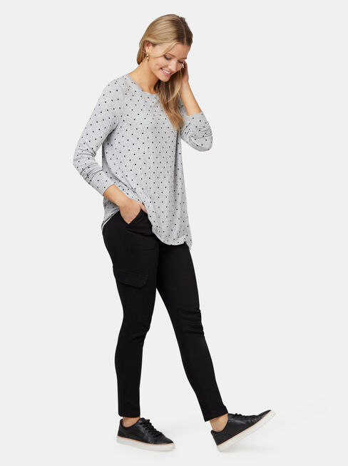 Amy Asymmetrical Hem Soft Touch Pullover, Multi, hi-res