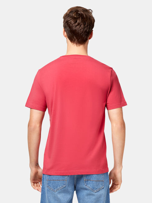 Pat Short Sleeve Basic Tee, Red, hi-res