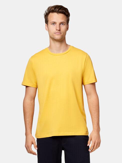 Pat Short Sleeve Basic Tee, Yellow, hi-res
