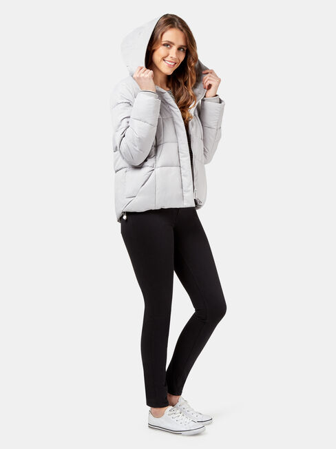 Tilly Hooded Puffer, Grey, hi-res