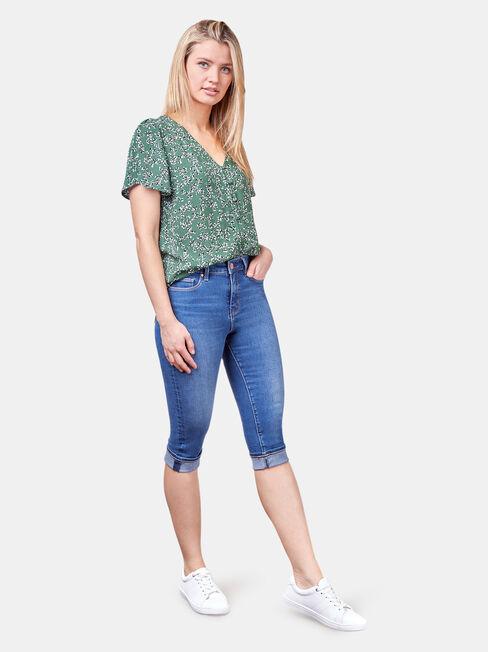 Tasha Button Down Shirt, Green, hi-res