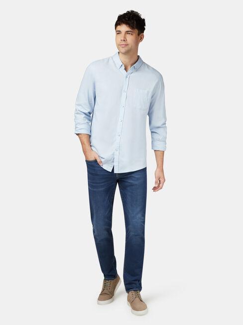 Brody Long Sleeve Textured Shirt, Multi, hi-res