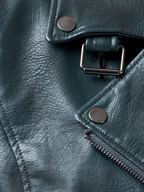 Frankie PU Jacket, Green, hi-res