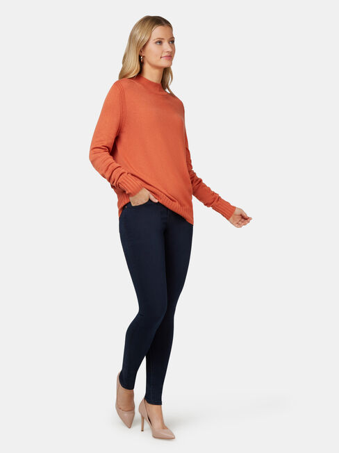 Kara Essential Funnel Neck Pullover