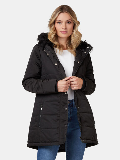 Hannah Belted Water Resistant Jacket
