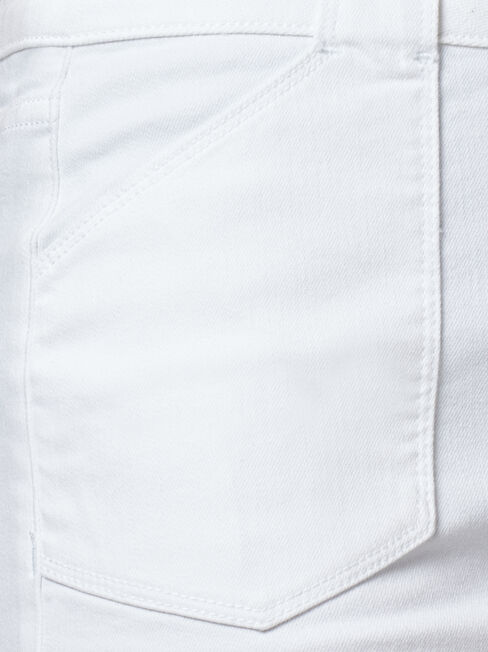 Mel Patch Pocket Skirt, White, hi-res