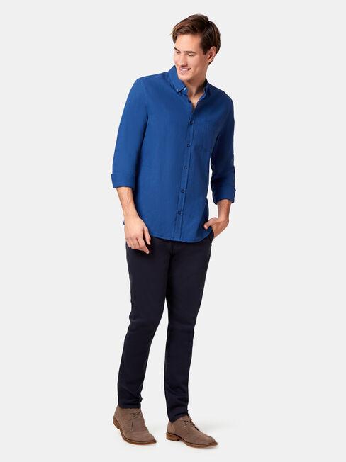 LS Brando Textured Shirt, Blue, hi-res