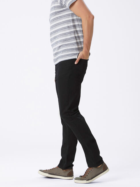 Slim Straight Jeans Black, Black, hi-res