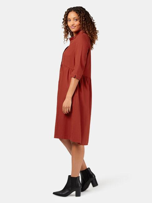 Ruth Midi Dress, Red, hi-res