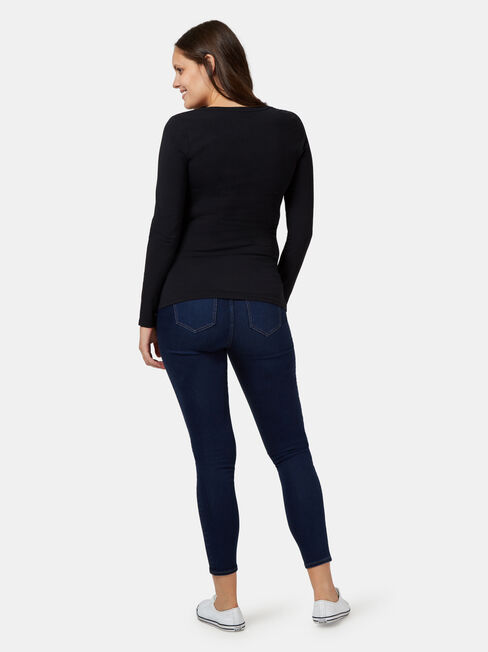 Feather Touch Maternity Skinny 7/8, Blue, hi-res
