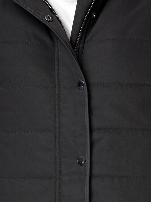 Claire Water Resistant Jacket, Black, hi-res